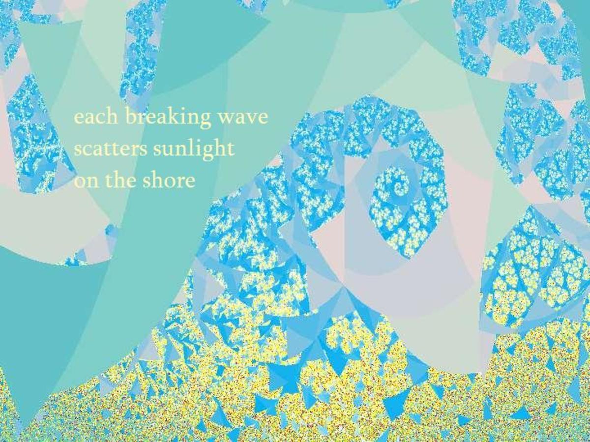 A single image haiga (haiku + graphics)