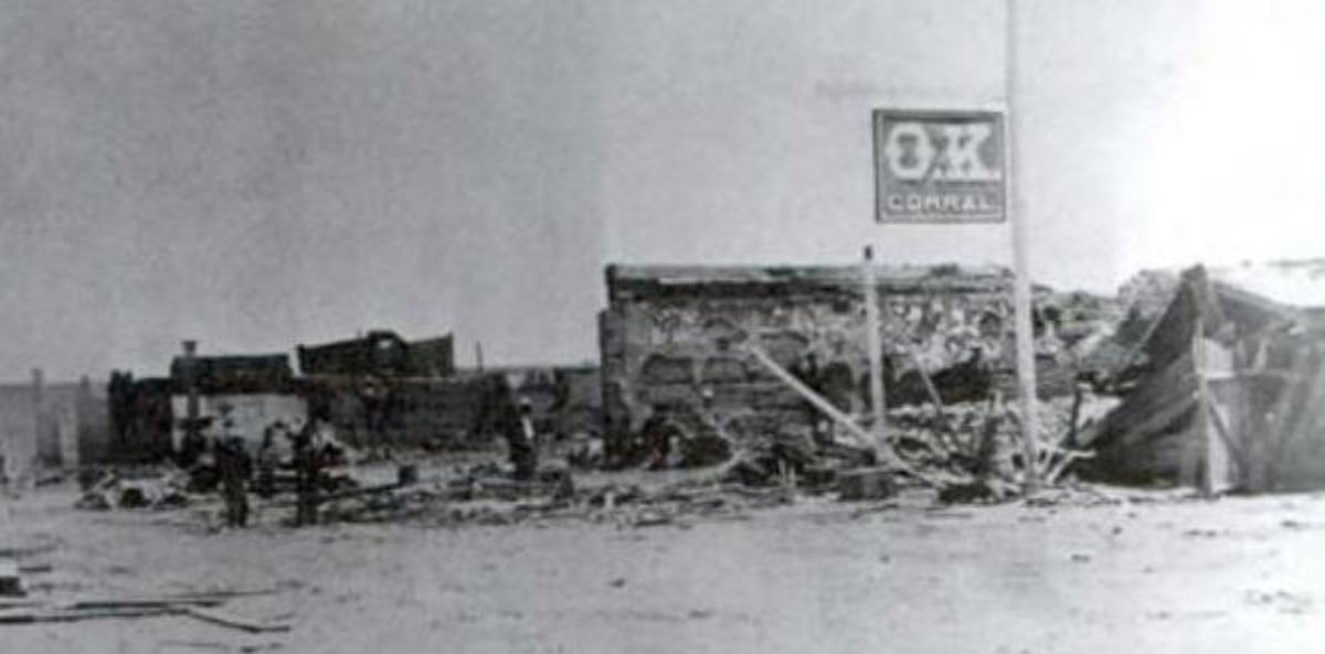 Tombstone circa 1882
