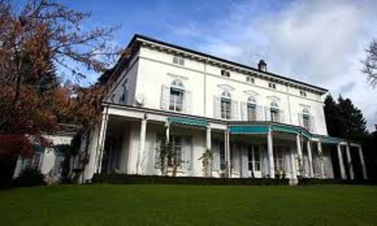 The Chaplin residence in Switzerland