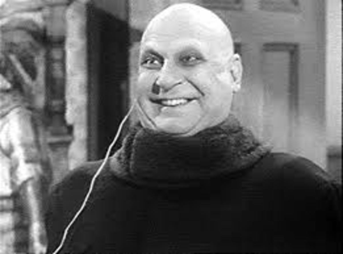 Jackie Coogan as Uncle Fester in the 'Addams Family' television series (1960s)