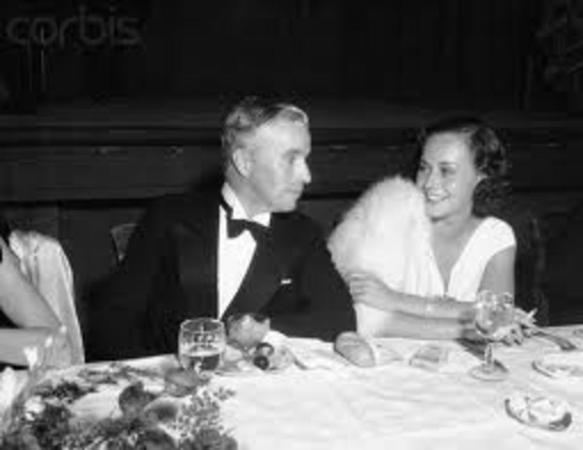 Charlie Chaplin and Paulette Goddard