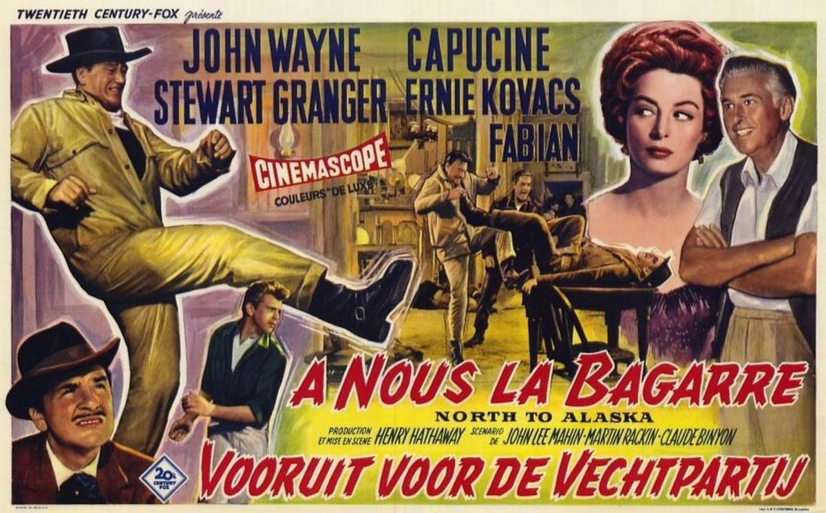 North to Alaska (1960) French poster