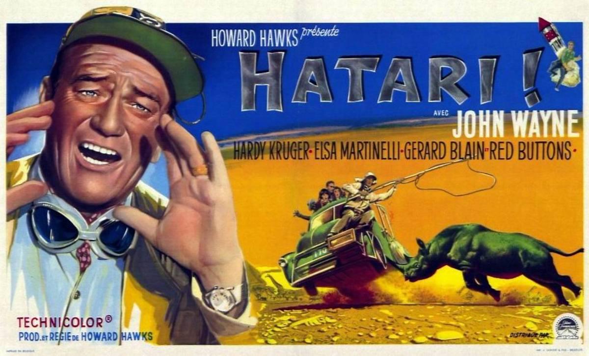 Hatari! (1962) Belgian poster