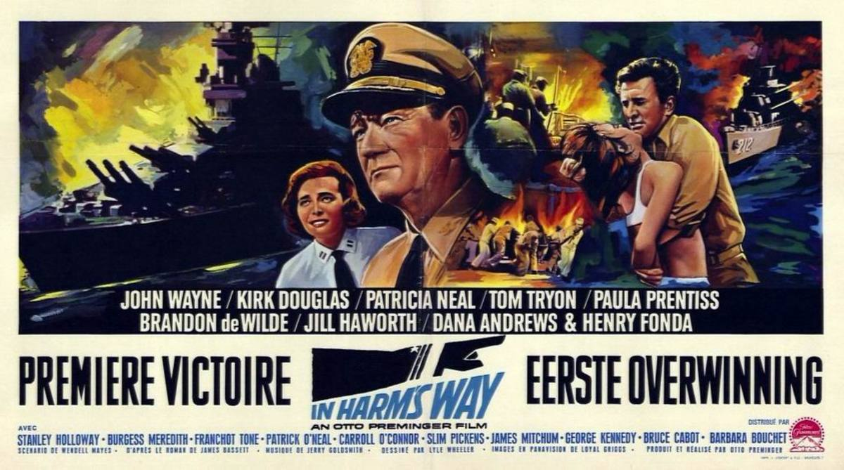 In Harm's Way (1966) Belgian poster