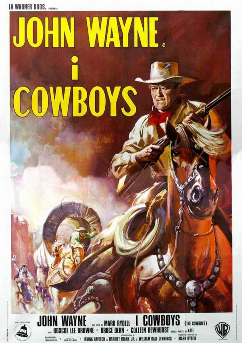 The Cowboys (1972) Italian poster