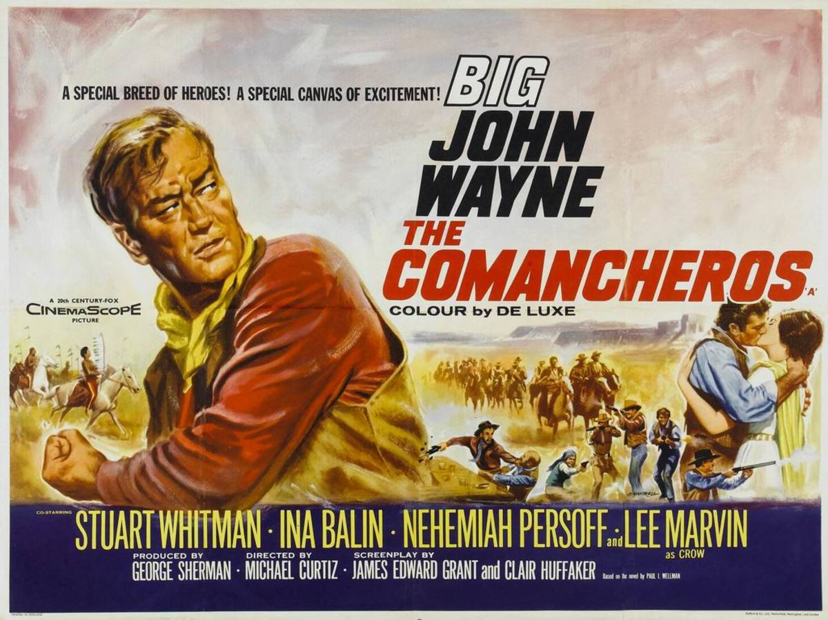 The Comancheros (1961) UK poster