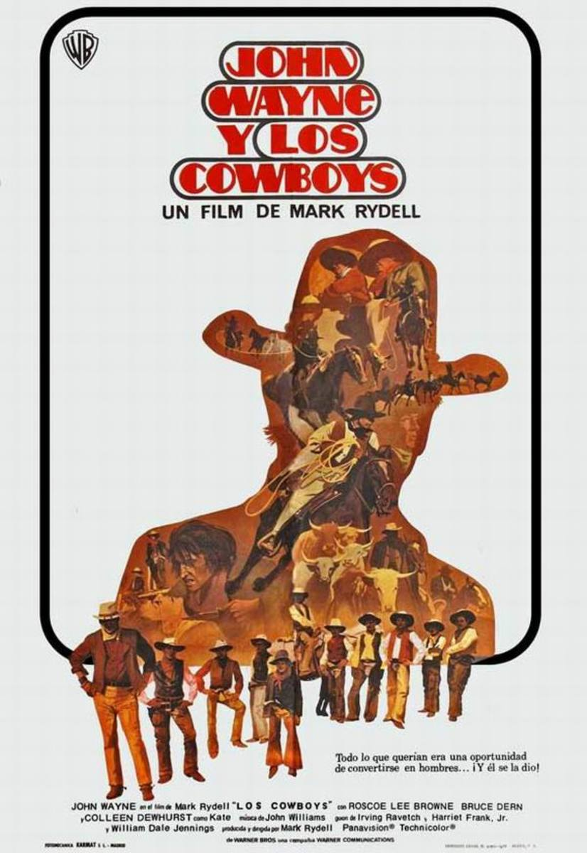 The Cowboys (1972) Spanish poster