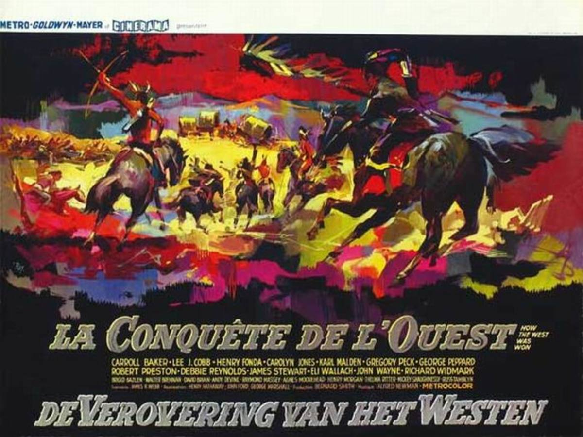 How the West Was Won (1962) Belgian poster