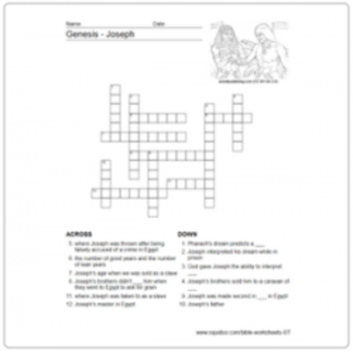 Genesis Worksheets HubPages