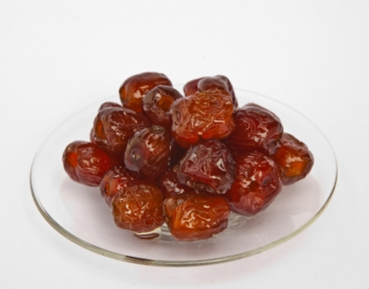 jujube fruits in syrup is a delicacy.