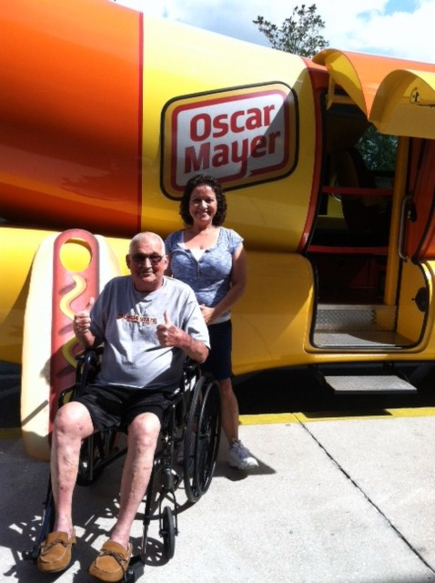 We got our free Oscar Mayer wienermobile wiener whistles and stickers!