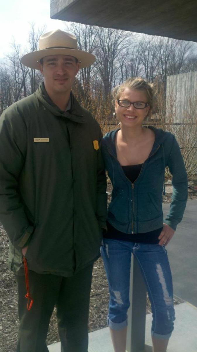 Cameo and Park Ranger Adam Shaffer - his father was one of the first people to arrive at the crash site.