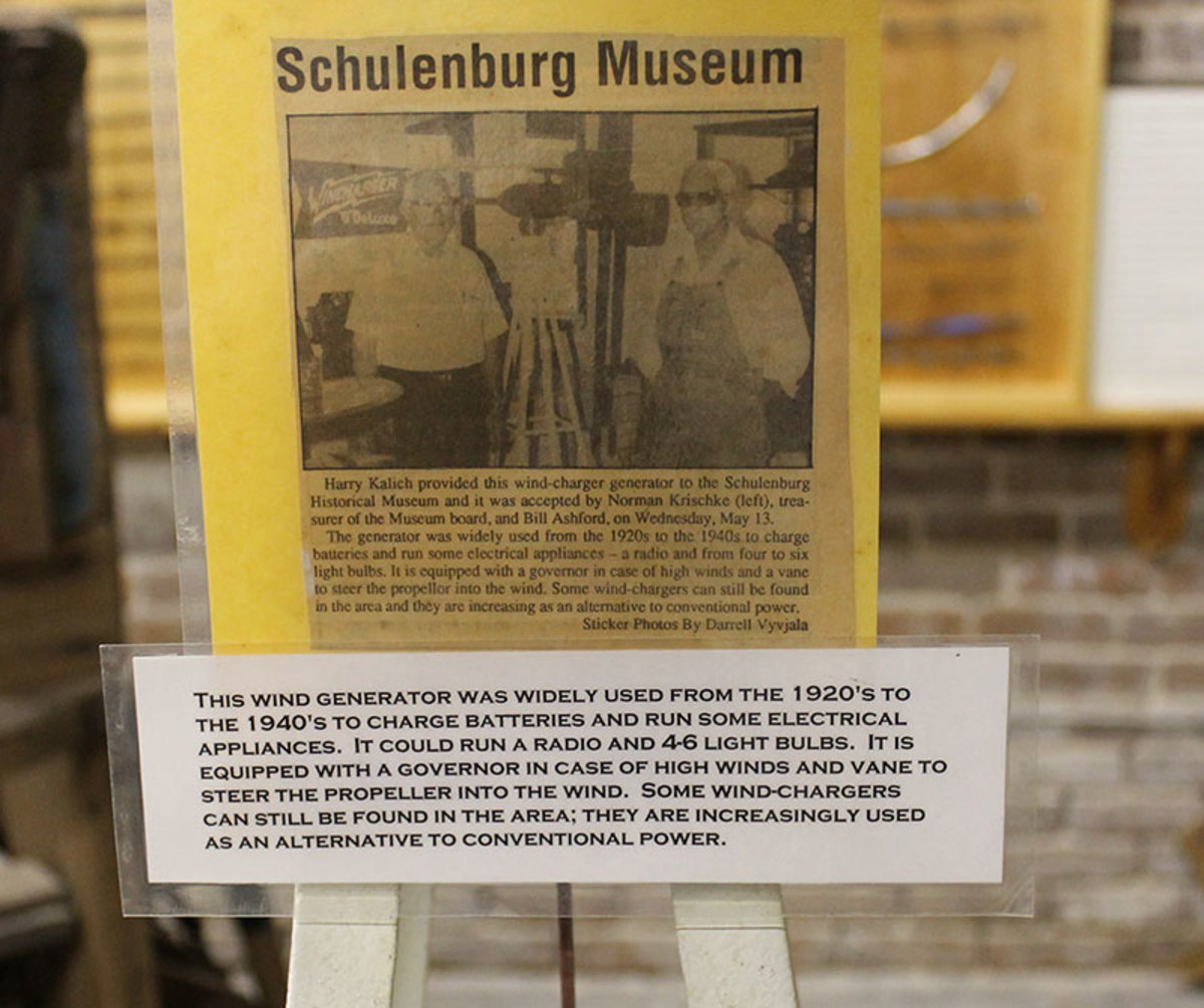 Recondition Wincharger located in Shulenburg Texas museum.
