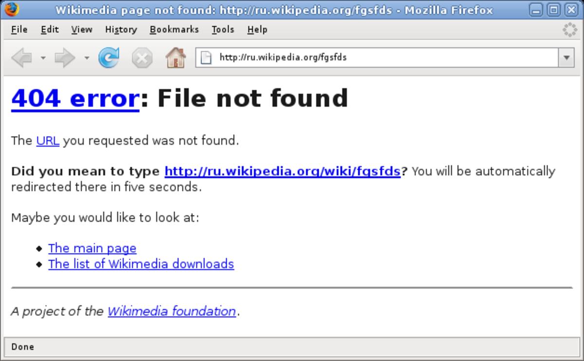 404 Html error not found