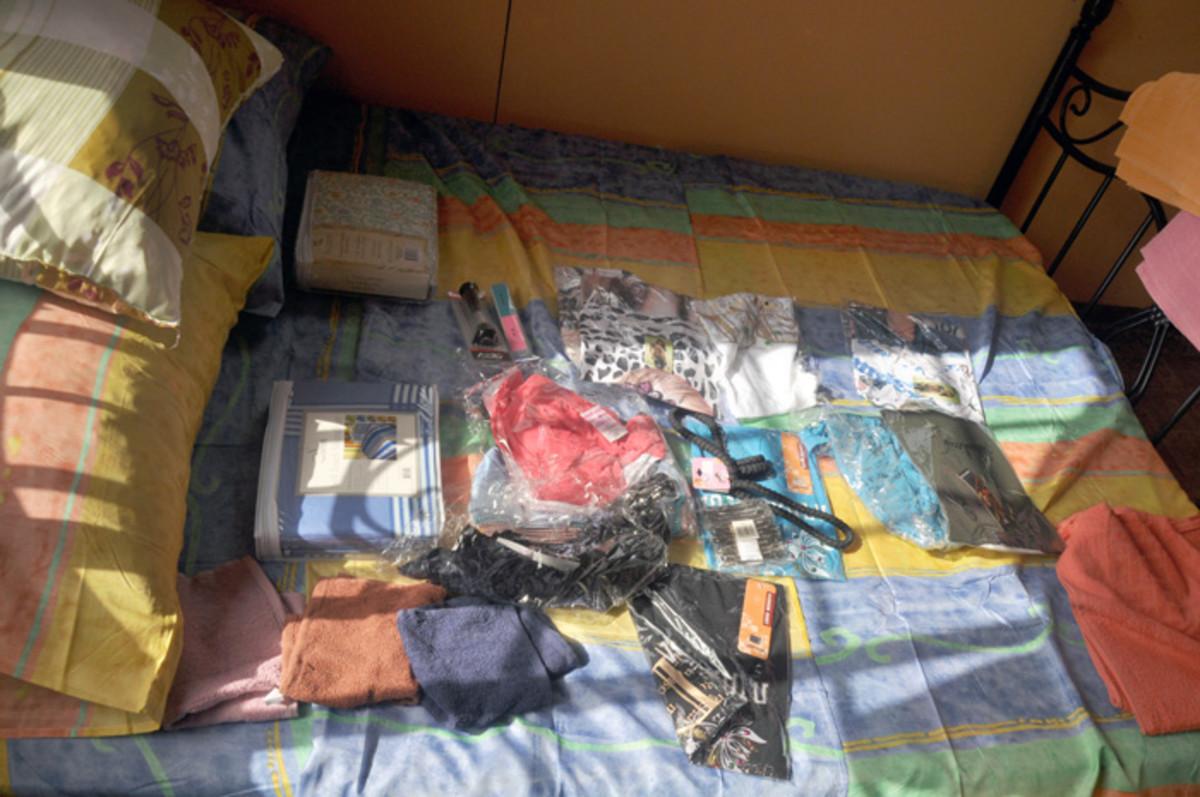 Una muestra de la ropa y las sábanas que se presentan.