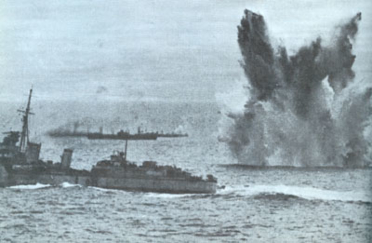 Arctic convoy under air attack
