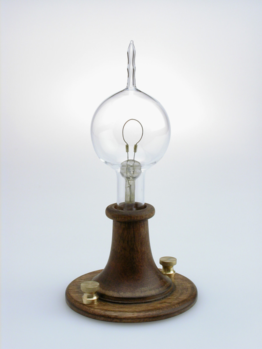 Original Edison incandescent bulb, circa 1890