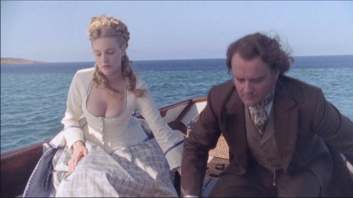 Romola Garai and Hugh Bonneville in Daniel Deronda