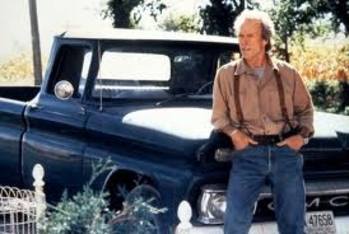 Clint Eastwood as Robert Kincaid in the movie Bridges of Madison County