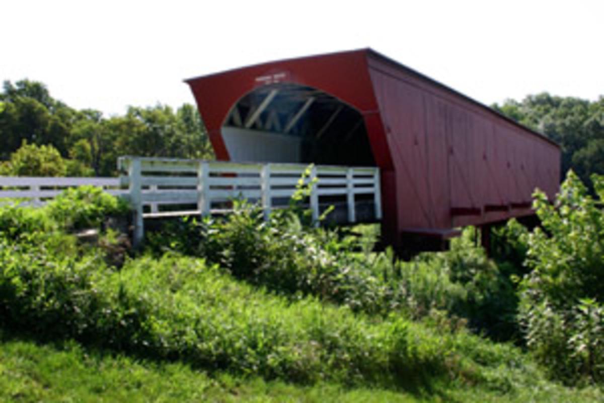 Roseman Bridge, Madison County, Iowa scene of some of the movie of Bridges of Madison County