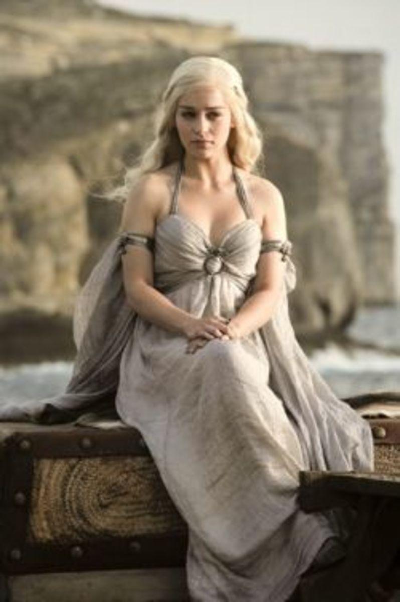 Emilia Clarke as Daenerys Targaryen, Game of Thrones Season 1