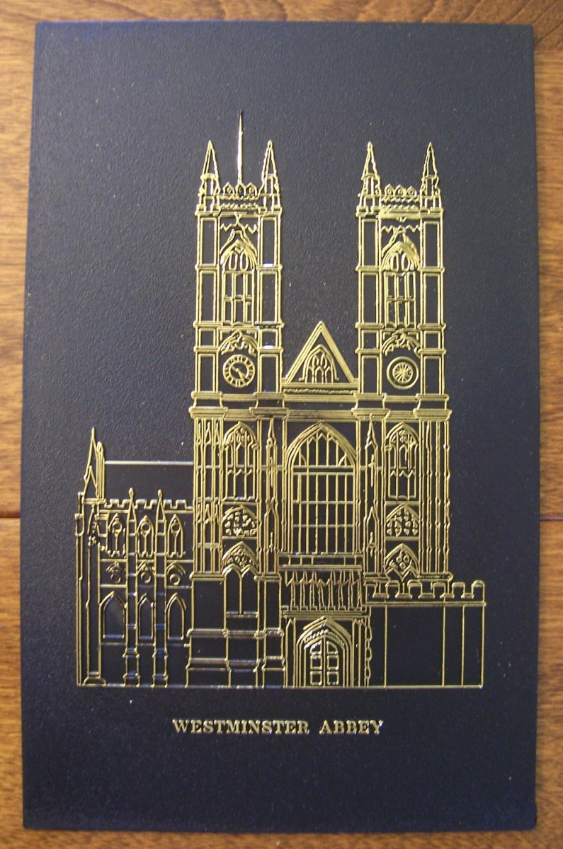 Brass plate of Westminster Abbey used for rubbing