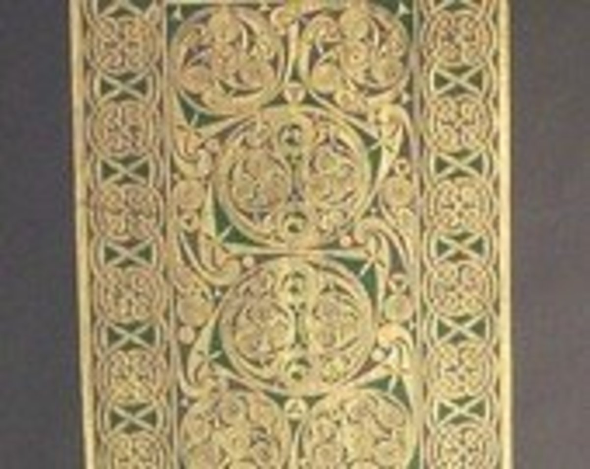 Brass rubbing from Belgium with lacy intricate scroll