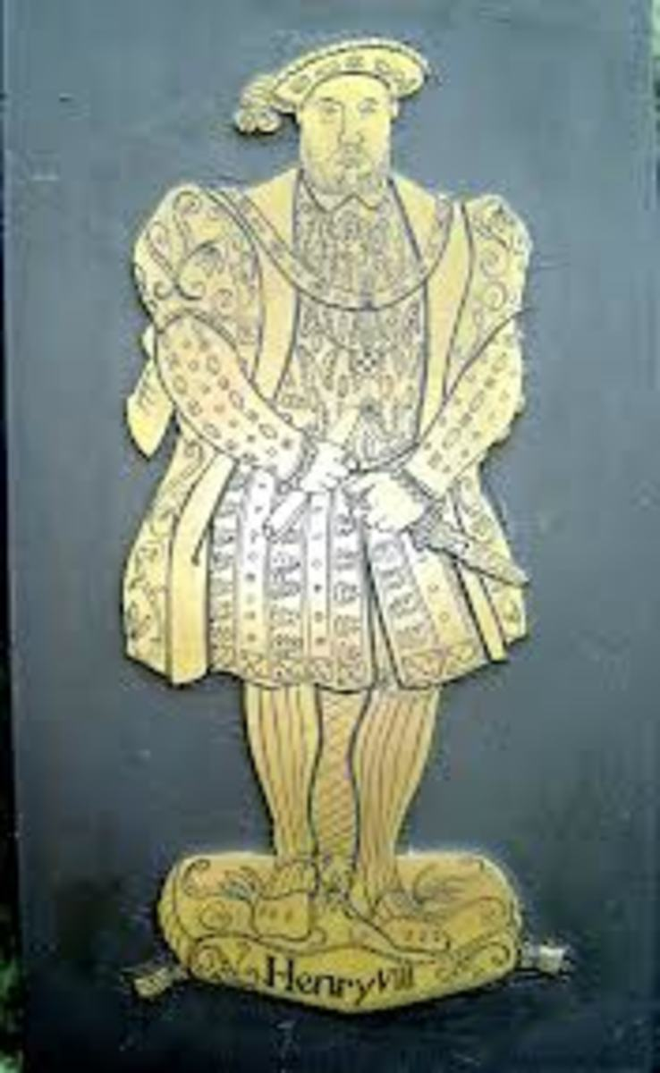 Brass plate of Henry VIII used for rubbing