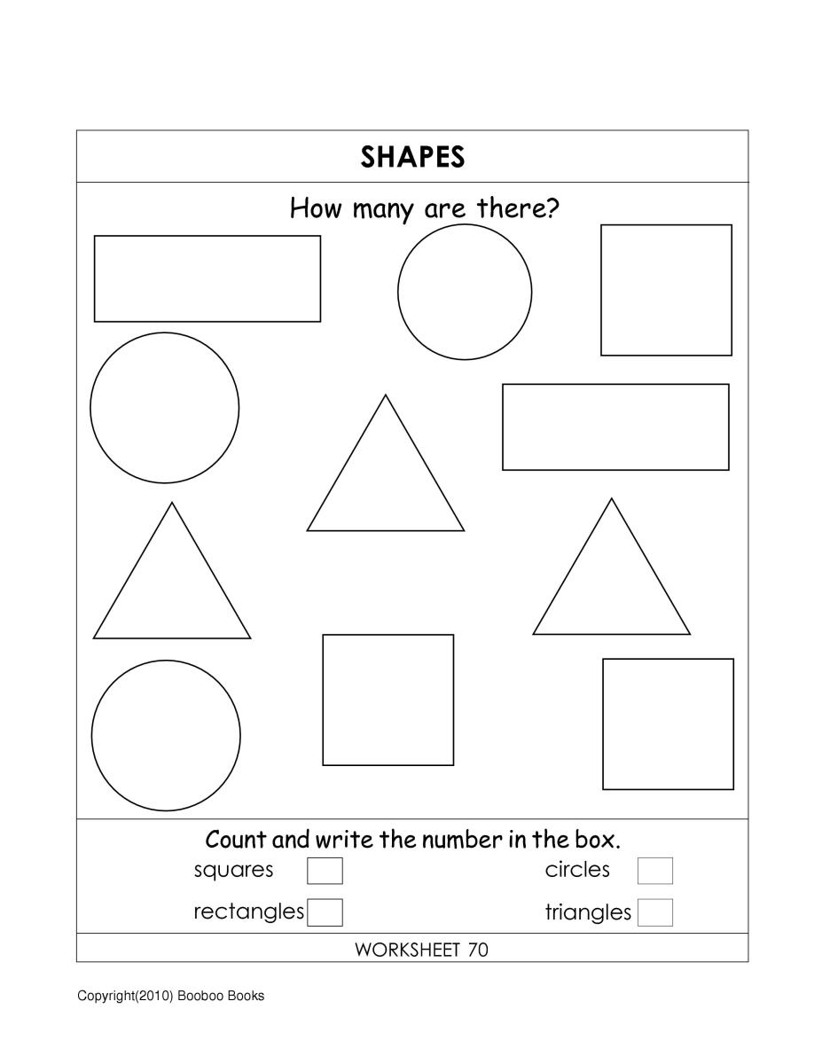 Shapes for kids - A worksheet to help kids learn shapes
