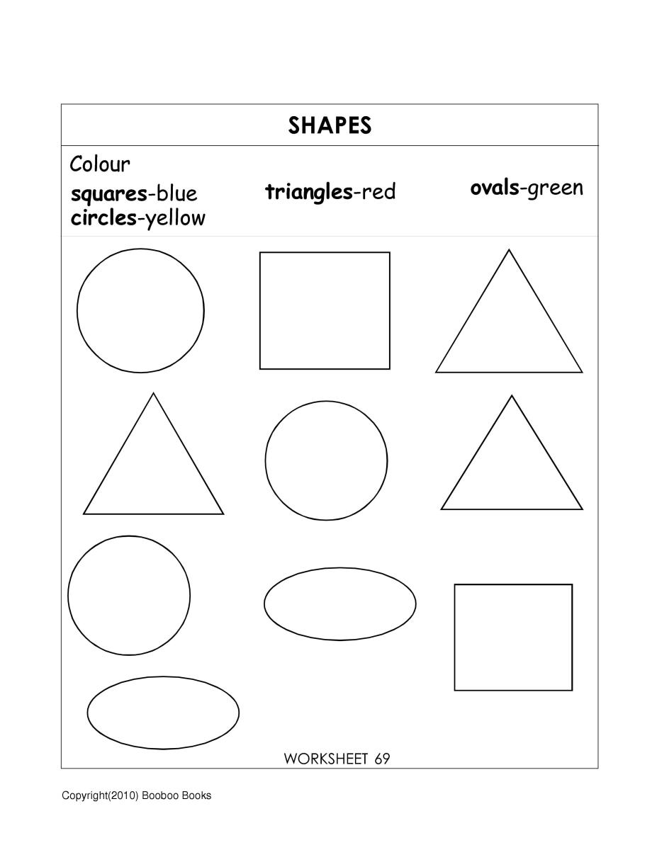 Teaching shapes - worksheet - shapes for kids