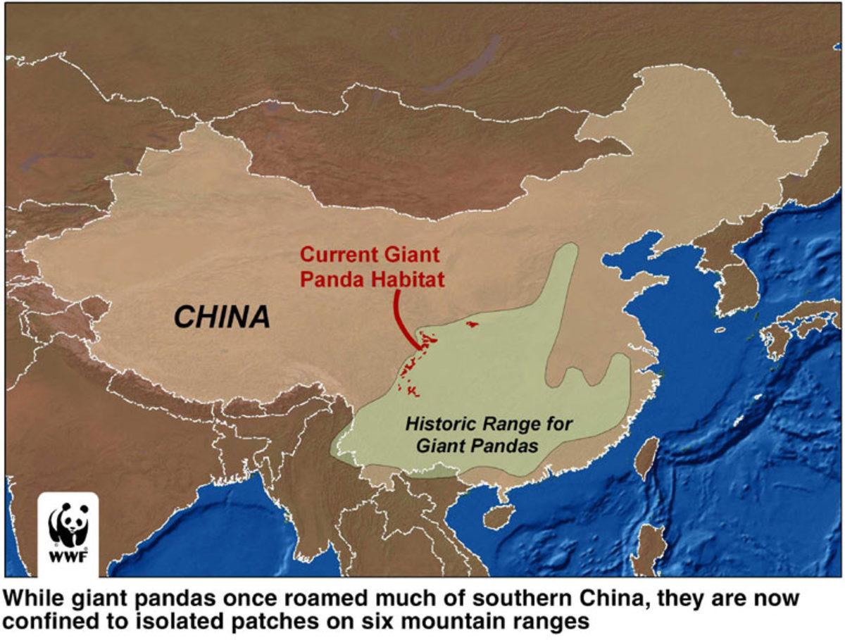 Map of Giant Panda Range