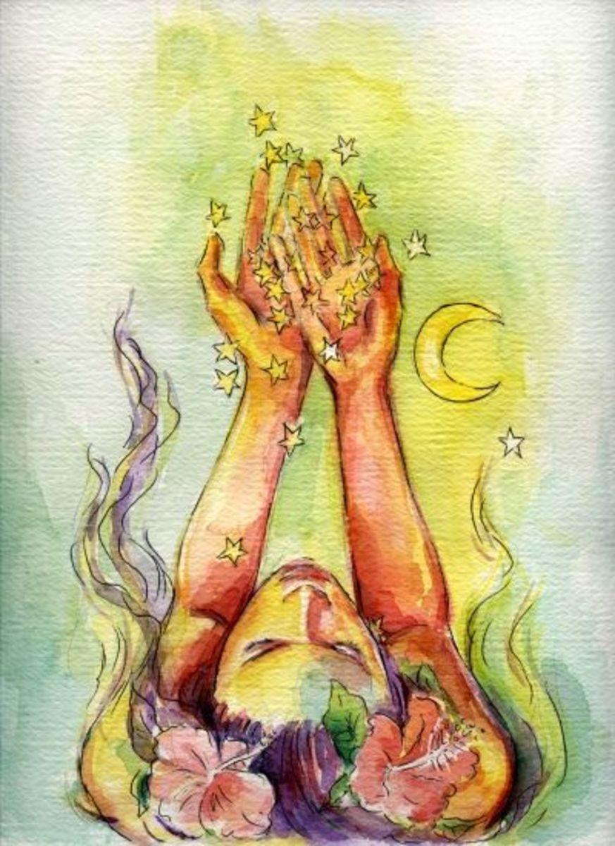 """Starcatcher"" 5x7 watercolor by Kathy Ostman-Magusen"