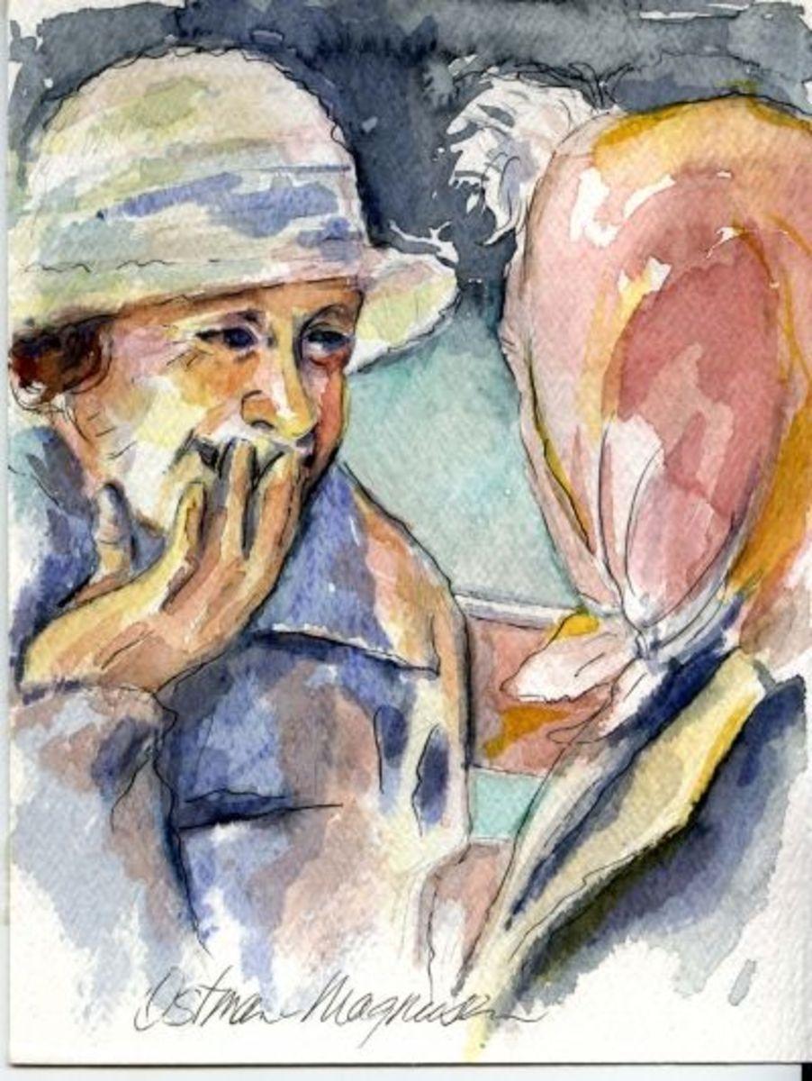 Watercolor Sketch by Kathy Ostman-Magnusen