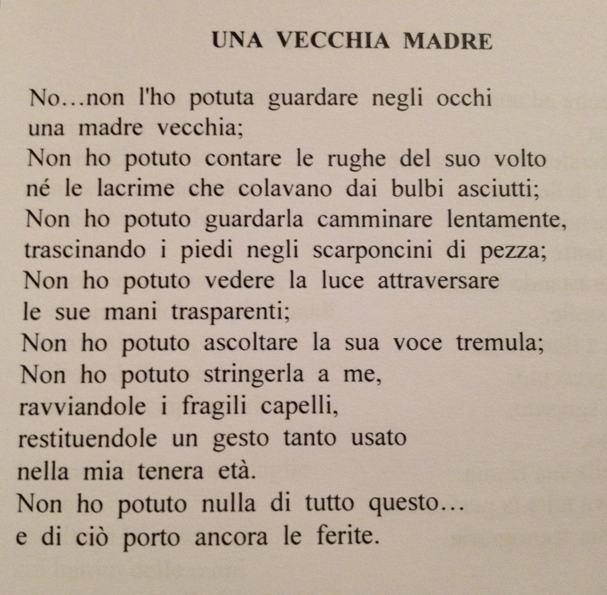 Celebrating Mother's Day with an Italian Poem. Click link for it's translation.