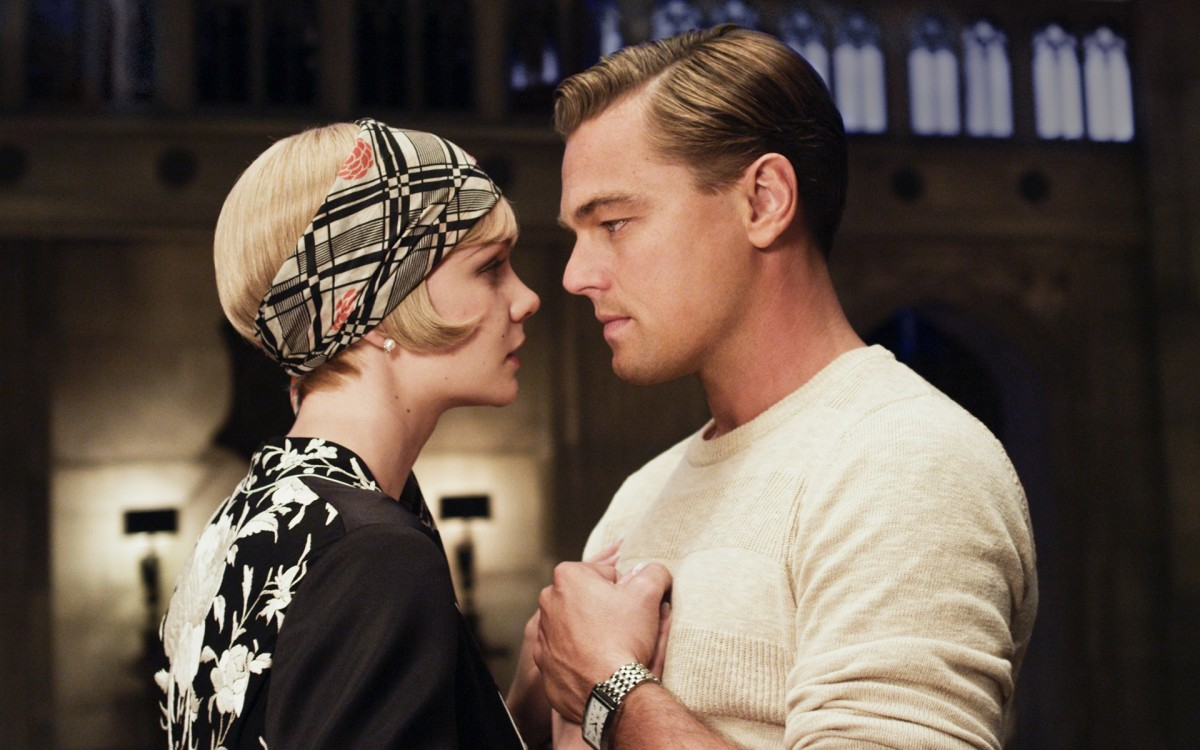 Daisy and Jay Gatsby in a quiet, innocent moment in one of the best scenes of the 2013 film.
