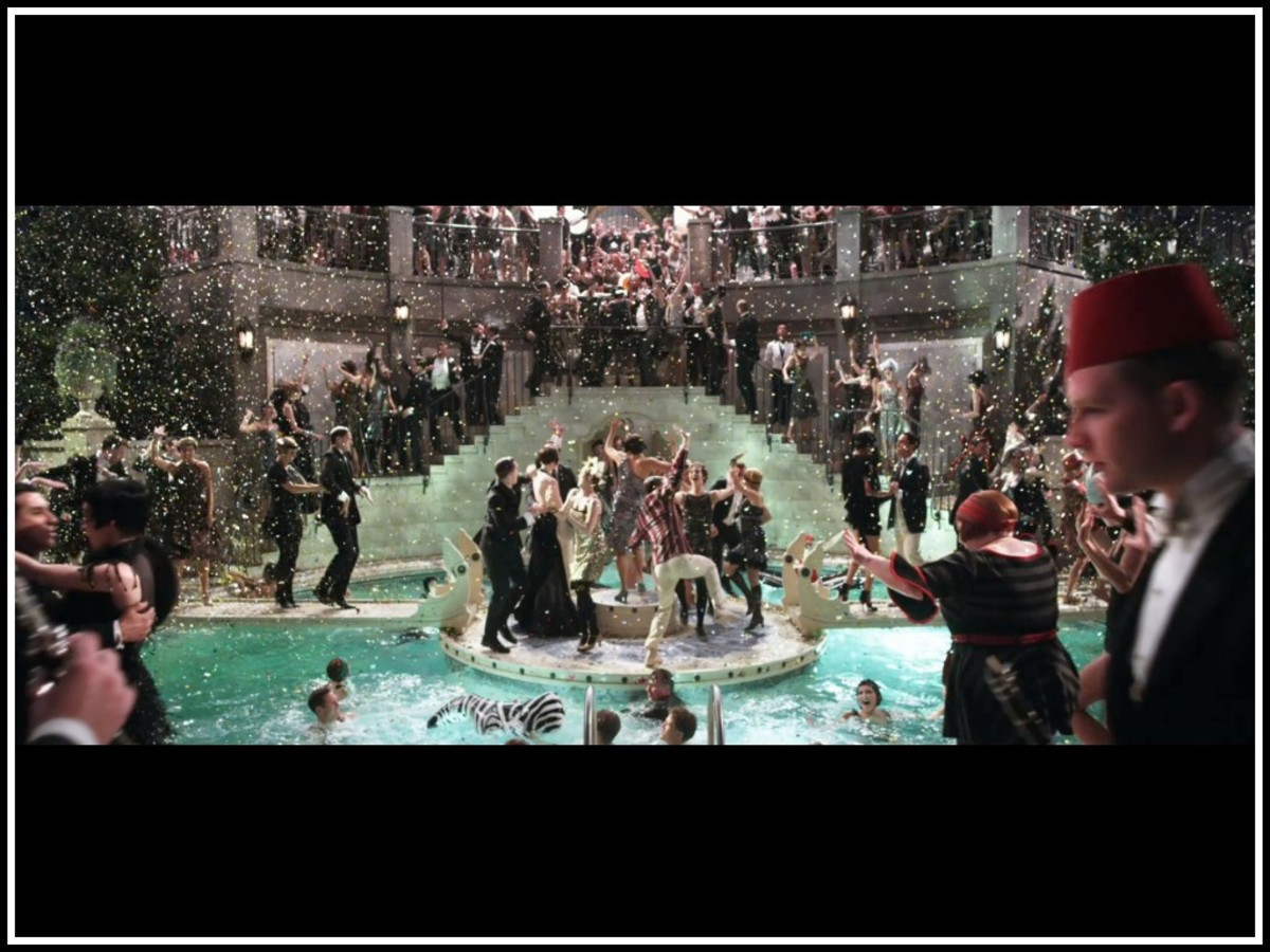 One of the over-the-top party scenes from the 2013 film of 'The Great Gatsby.'