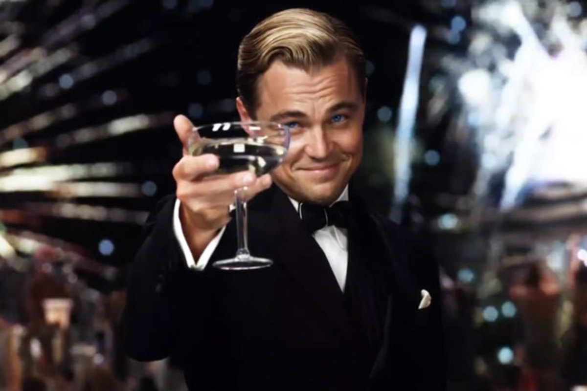 Leonardo DiCaprio as the great Jay Gatsby.