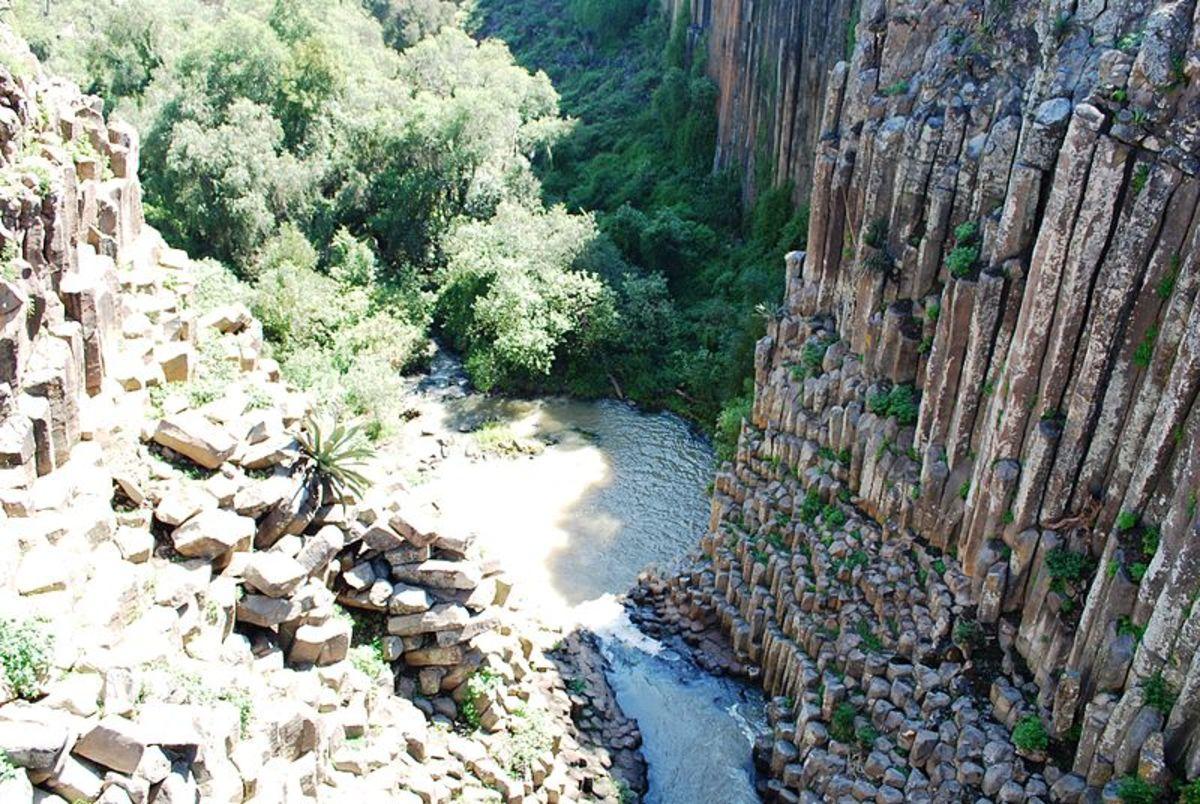 Prismas Basalticos in Huasca de Ocampo, Hidalgo, Mexico
