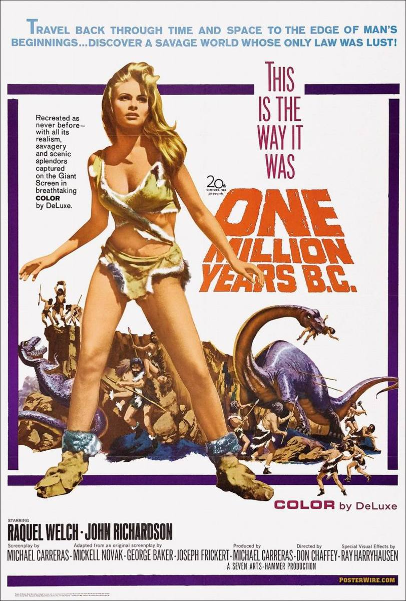One Million Years BC (1966) poster