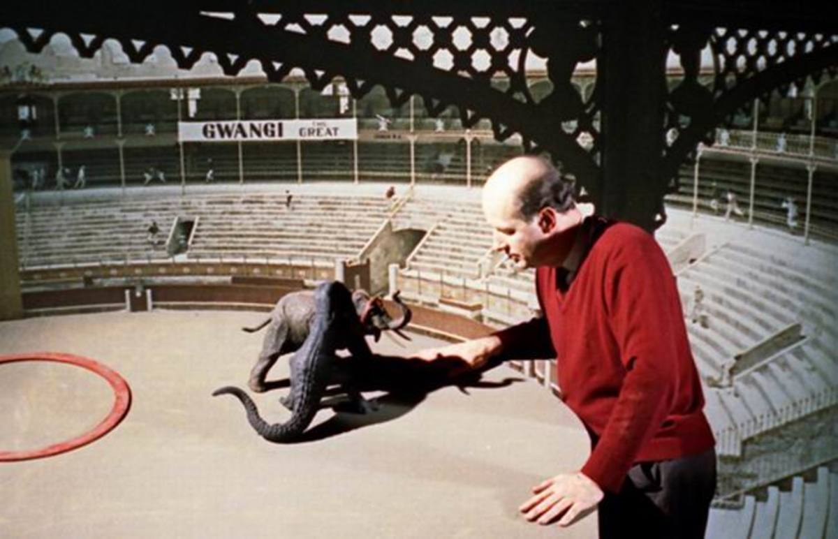 The Valley of Gwangi (1969) Ray Harryhausen at work