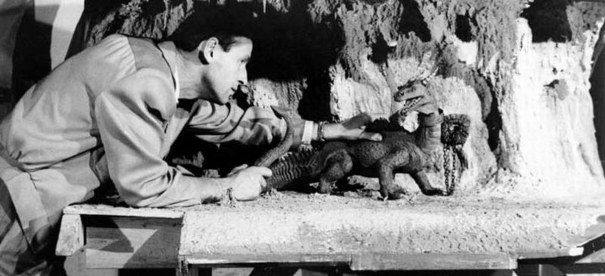 The 7th Voyage of Sinbad (1958) Ray Harryhausen and Dragon
