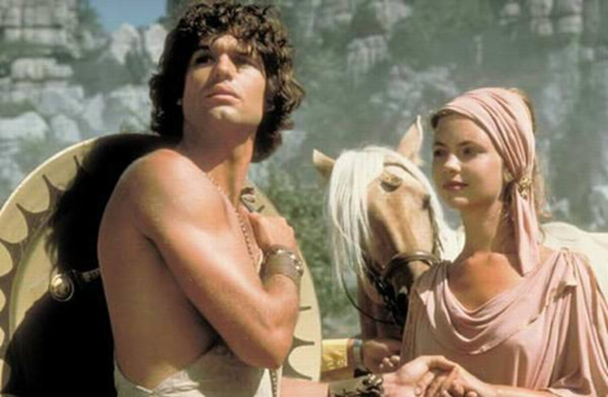 Harry Hamlin and Judi Bowker in Clash of the Titans (1981)