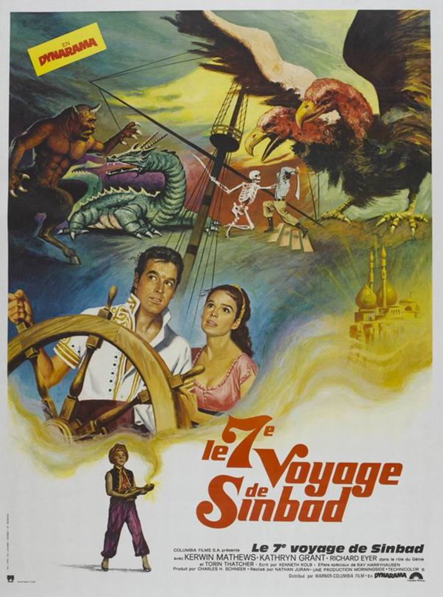 The 7th Voyage of Sinbad (1958) French poster