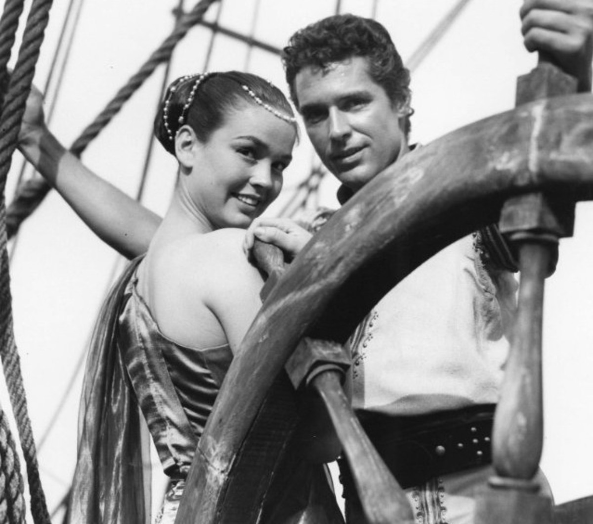 Kathryn Grant and Kerwin Mathews in The 7th Voyage of Sinbad (1958) Publicity Still