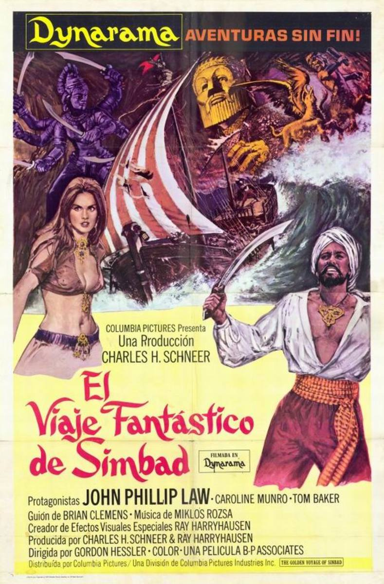 The Golden Voyage of Sinbad (1973) Spanish poster