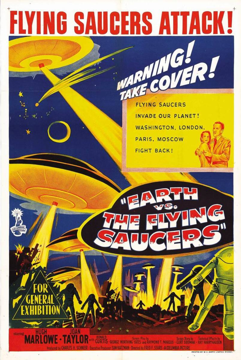 Earth vs the Flying Saucers (1956) poster
