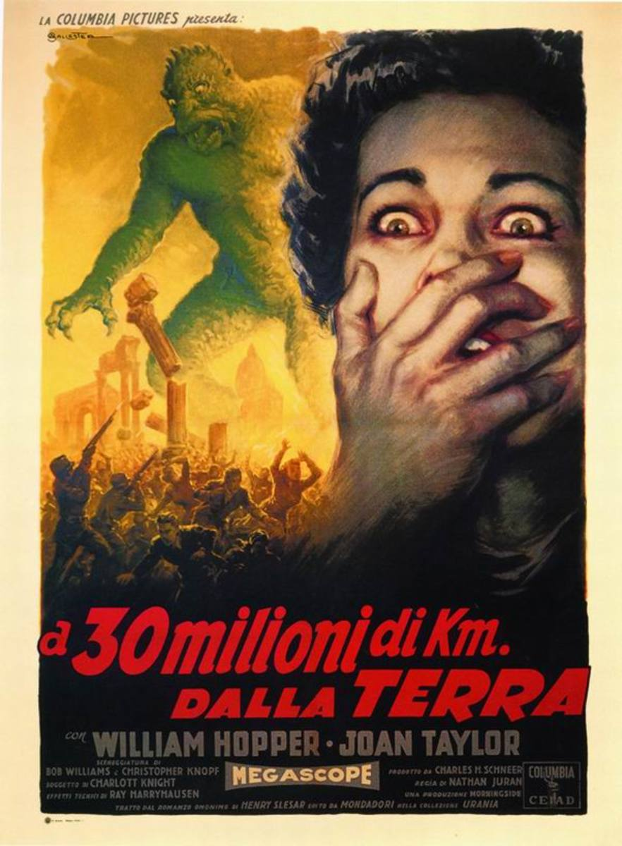 20 Million Miles to Earth (1957) Italian poster