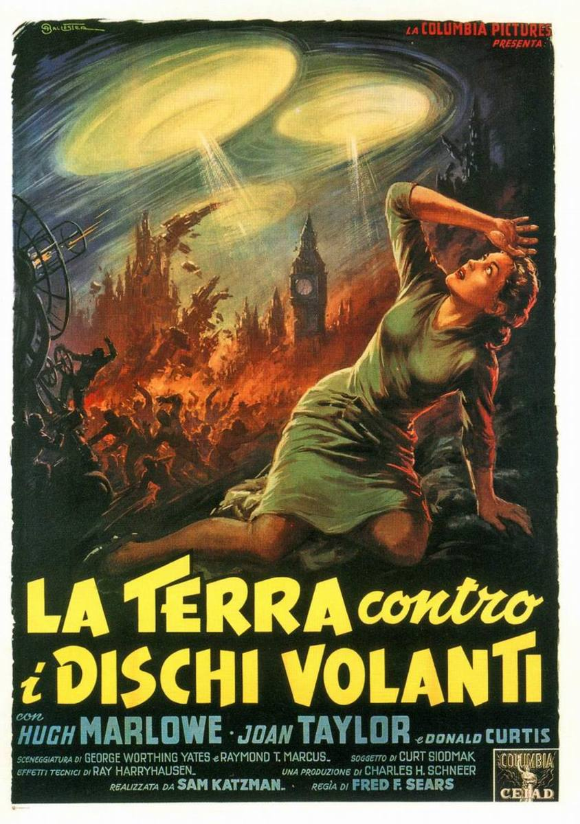 Earth vs the Flying Saucers (1956) Italian poster