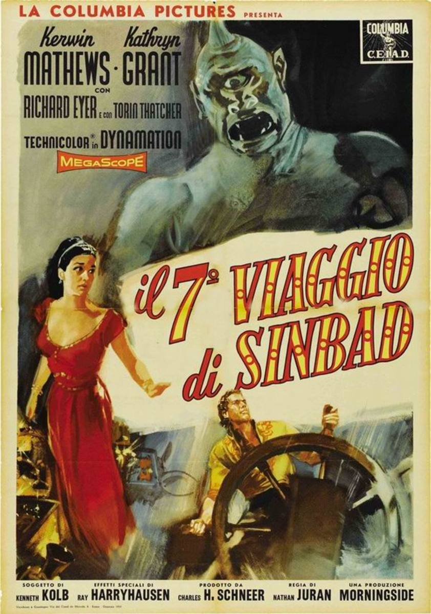 The 7th Voyage of Sinbad (1958) Italian poster