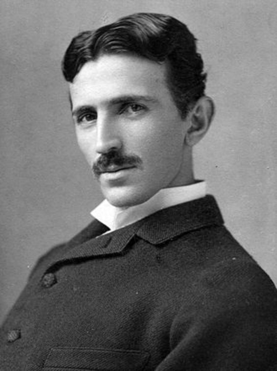 Nikola Tesla, aged 37, 1893, photo by Napoleon Sarony.